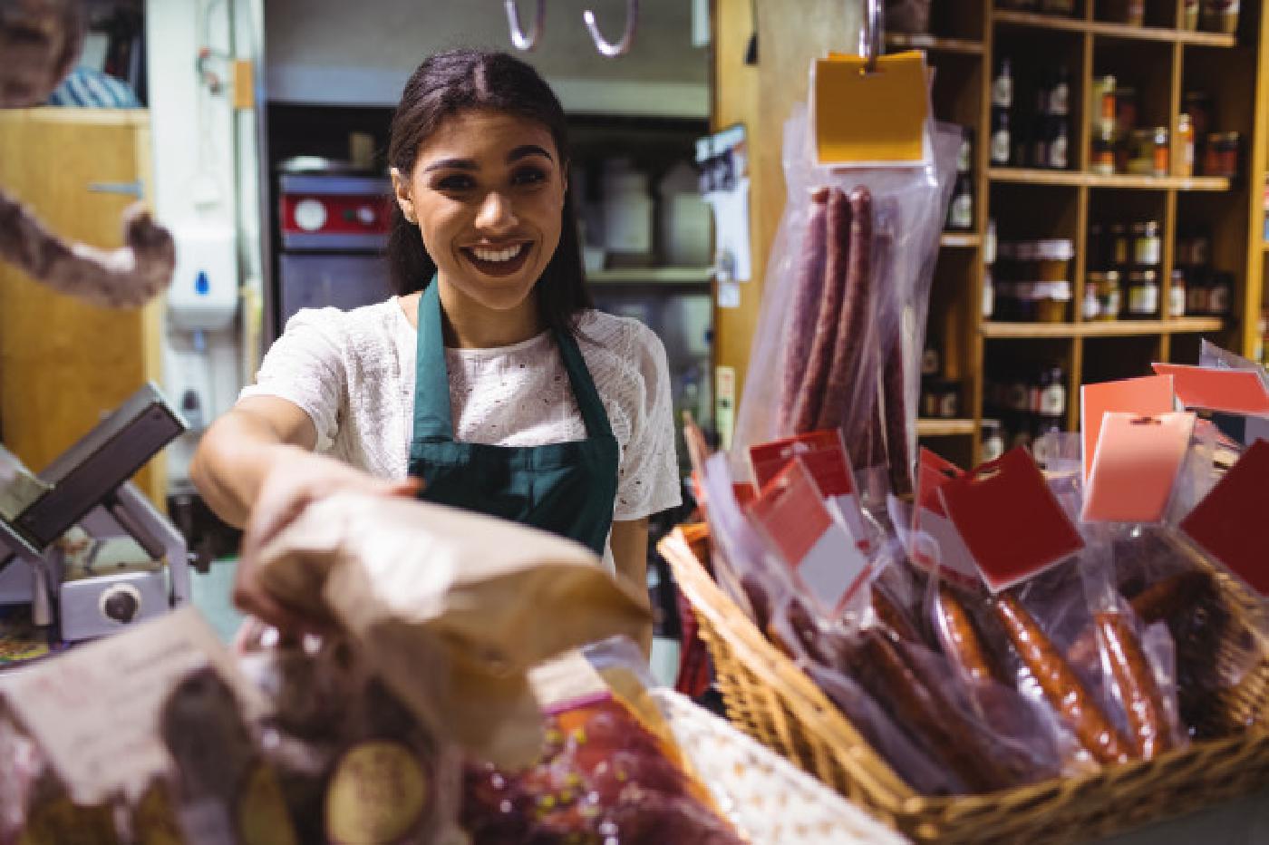 Prodavačica u mesnici